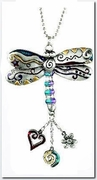 Ganz Car Charms Color Art Dragonfly