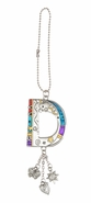 Ganz Car Charms Color Art Monogram Letter - D