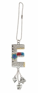 Ganz Car Charms Color Art Monogram Letter - E