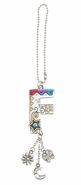 Ganz Car Charms Color Art Monogram Letter - F