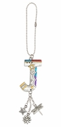 Ganz Car Charms Color Art Monogram Letter - J