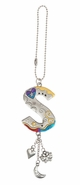 Ganz Car Charms Color Art Monogram Letter - S