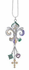 Ganz Car Charms - Fleur-de-Lis with Color