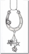 Ganz Car Charms - Lucky Horseshoe with Ladybug