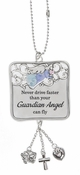 Ganz Car Charms - Never Drive Faster than Your Guardian Angel Can Fly
