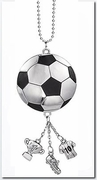 Ganz Car Charms - Soccer Ball