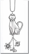 Ganz Cat Car Charms