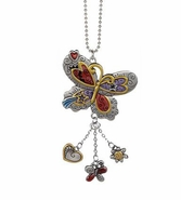 Ganz Car Charms - Color Art Butterfly