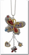 Ganz Color Art Butterfly Car Charm