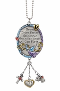 Ganz Color Art Car Charm - Never Drive Faster Guardian Angel