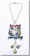 Ganz Color Art Owl Car Charm