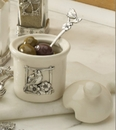 Ganz Condiment Jars with Matching Spoon
