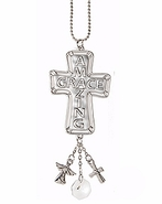 Ganz Cross Car Charms - Words of Faith - Amazing Grace