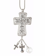 Ganz Cross Car Charms - Words of Faith - Have Faith