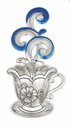 Ganz Everything Spoons - Cup and Saucer with Colored Enamel