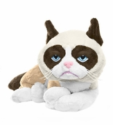 "Grumpy Cat Plush by Ganz - 8"" Laying Style"