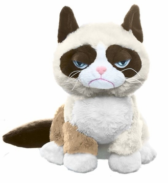 "Grumpy Cat Plush by Ganz - 8"" Sitting Style"