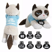 Ganz Grumpy Cat Plush with Shirt and Collars