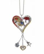 Ganz Car Charms - Color Art Heart