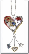 Ganz Heart Color Art Car Charms
