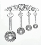 Ganz Heart Measuring Spoons with Display Rack