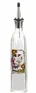 Ganz Kitchen Oil Bottle - Roosters with Colored Enamel