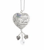 Ganz Love Scriptures Car Charms - Let all you do be done in Love