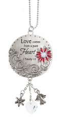 Ganz Love Scriptures Car Charms - Love comes from a pure Heart