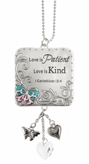 Ganz Love Scriptures Car Charms - Love is Patient, Love is Kind