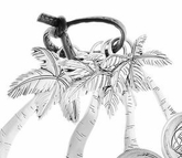 Ganz Measuring Spoons - Palm Trees