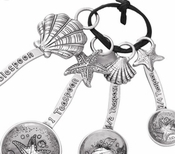 Ganz Measuring Spoons - Shells Starfish Clam Shell