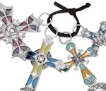 Ganz Measuring Spoons - Stained Glass Crosses