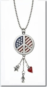 Ganz Patriotic Car Charms - Love, Hope, Peace