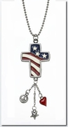Ganz Patriotic Cross Car Charms - God Bless America