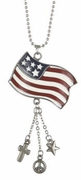 Ganz Patriotic Flag Car Charms - Proud to be an American