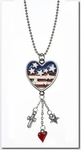 Ganz Patriotic Heart Car Charms - Proud to be an American