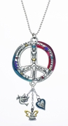 Ganz Peace Sign Color Art Car Charm
