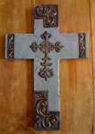 Ganz Resin Wall Cross Decorative - Blue
