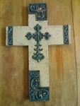 Ganz Resin Wall Cross Decorative - Tan
