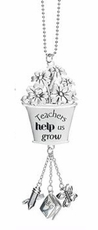 "Ganz Teacher Car Charms - ""Teachers help us grow"""