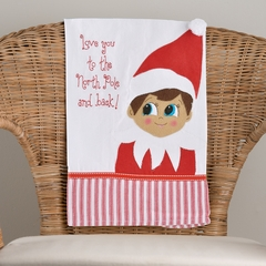 Glory Haus Elf on the Shelf Tea Towel