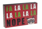 Grumpy Cat Holiday Box Sign - Fa La La La Nope