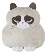 Ganz Grumpy Cat Shaped Pillow