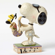 Jim Shore Peanuts - Snoopy Joe Cool with Saxophone