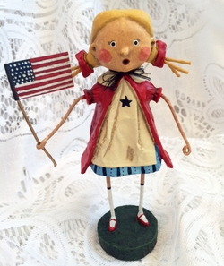 Lori Mitchell Gloria Patriotic Figurine