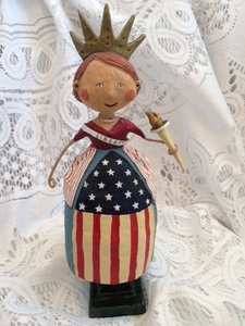 Lori Mitchell Lady Liberty Patriotic Figurine