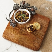 Mud Pie Acorn Cutting Board and Dip Set