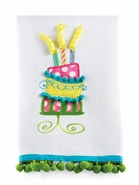 Mud Pie Birthday Cake Linen Towel