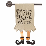 Mud Pie Halloween Witch Switch Tea Towel