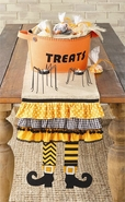 Mud Pie Halloween Witch Leg Table Runner